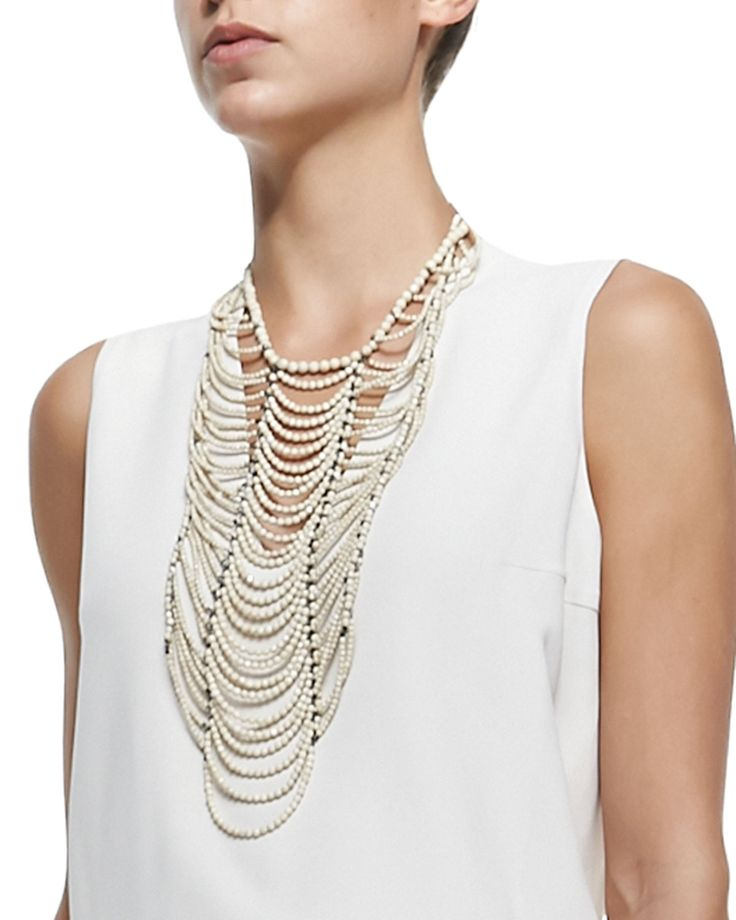 Brunello Cucinelli River Stone Multi-Strand Necklace
