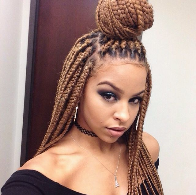 Pleasant 1000 Images About B R A I D Z On Pinterest Box Braids Hairstyle Inspiration Daily Dogsangcom