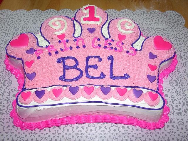 first birthday princess crown cake