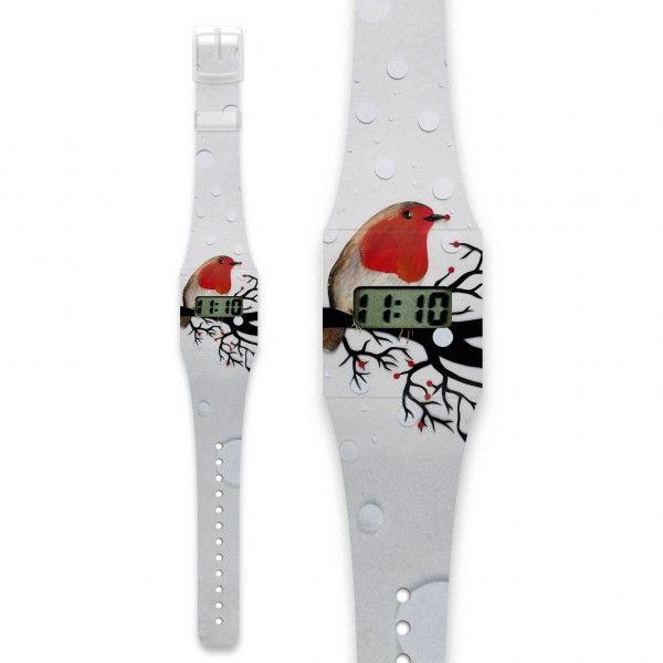 ROTKEHLCHEN Pappwatch / Armbanduhr