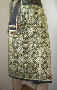 Antique Romanian costume apron SKIRT from Muscel .  Available at www.greatblouses.com
