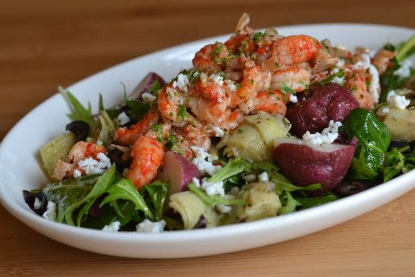 Recipe for Crawfish Nicoise Salad -- Spa Plate at cafe b