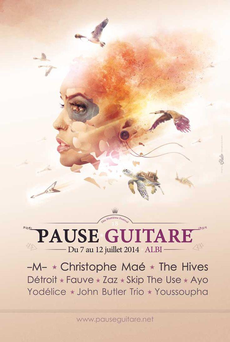 Affiche Pause Guitare 2014 (c) Yanis Lebrun