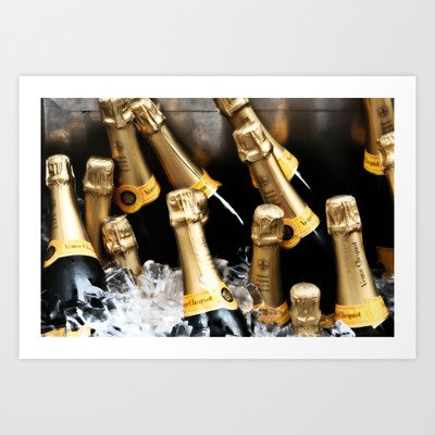 Champagne Bottles Art Print by DP Photography - $16.00