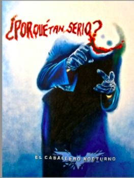 Por qué tan serio? This picture of the Joker in Spanish is on sale too!