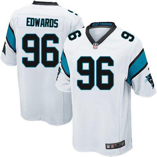 Men Nike Carolina Panthers #96 Edwards Ron Game White NFL Jersey Sale