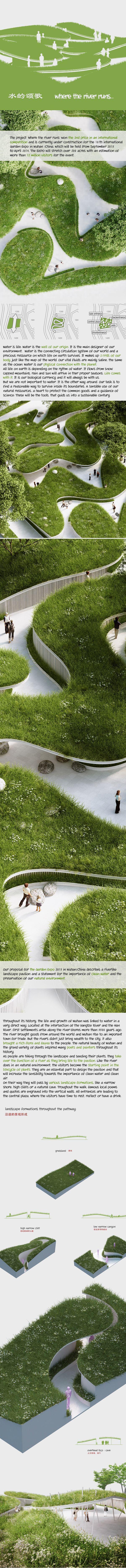 Where The River Runs / Garden Expo 2015 on Behance