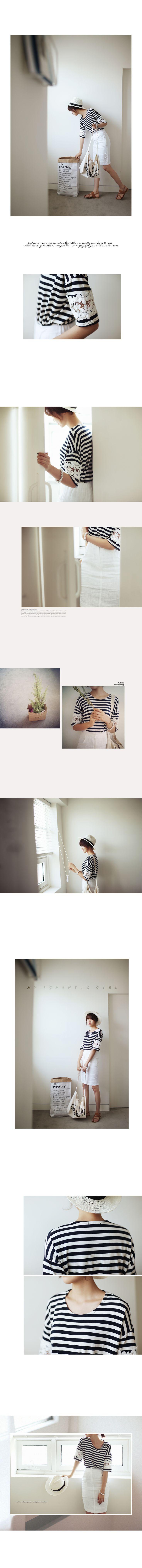 スリーブレースボーダーTシャツ・全3色トップス・カットソーカットソー・Tシャツ|レディースファッション通販 DHOLICディーホリック [ファストファッション 水着 ワンピース]