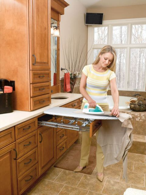 This round up of creative ironing boards is perfect for utilizing every last inch of space in your work area.