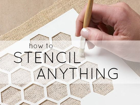 Learn How To Stencil Anything! Chis Williams AKA Master Crafter teaches  you in a few easy steps!