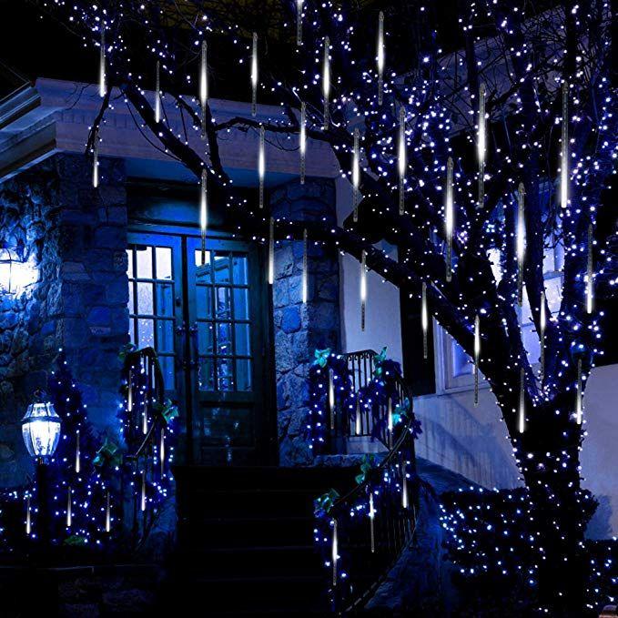 LED Meteor Shower Rain Falling Lamp Icicle Tube String Fairy Light Xmas Party