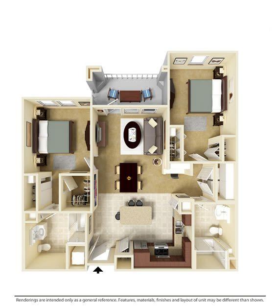 Luxury Studio 1 2 3 Bedroom Apartments In Orlando Fl Bedroom Apartment Studio Apartment Floor Plans Apartment Floor Plans