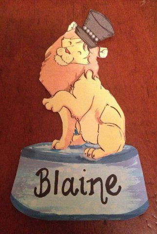 Alpha Delta Pi recruitment name tag Lion Name Tag Alphie Name Tag