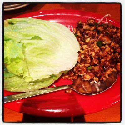 VEGAN STYLE PF CHANG LETTUCE WRAPS ... i would make this VEGAN BY ADDING MY VEGGIE PROTEIN crumbles INSTEAD - Recipe link here... secretcopycatrestaurantrecipes.com/p-f-changs-lettuce-wraps-with-chicken-recipe/  ... its a Low Carb Healthy and simple asian lunch