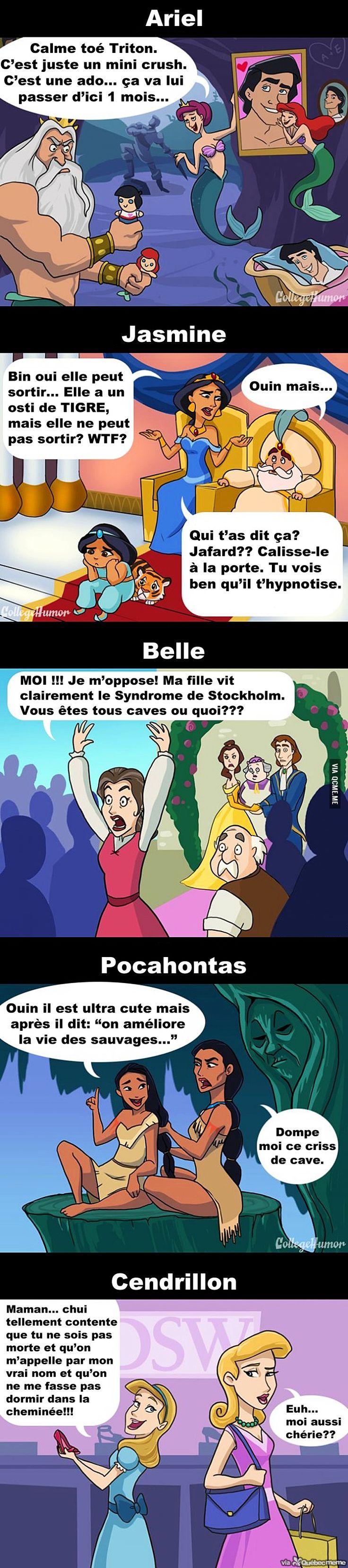Si les princesses de Disney avaient leur mère – Québec Meme +