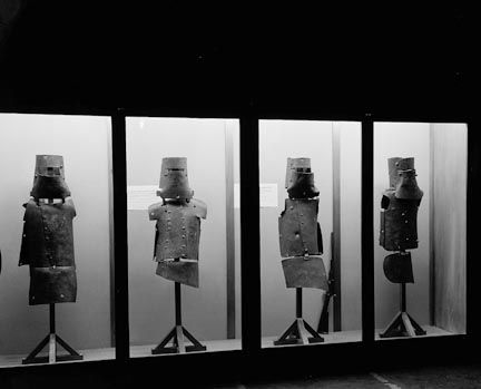 June 28, 1880: Bushranger Ned Kelly captured. When the Australian outlaw and his cohorts were cornered, they decided to create their own armor. They believed they were impervious to bullets, but they weren't. In Ned's case, he couldn't even raise his arms to aim his gun, but could only hold it at arms length and fire randomly. He was the only member of the gang to live to stand trial.