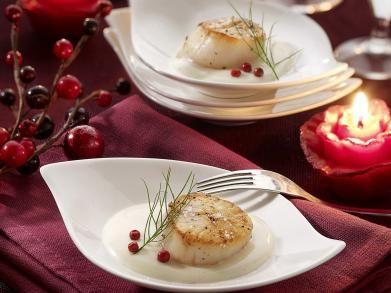 Gebakken sint-jakobsvruchten met wittewijnsaus en fleur de sel (Libelle Lekker!)