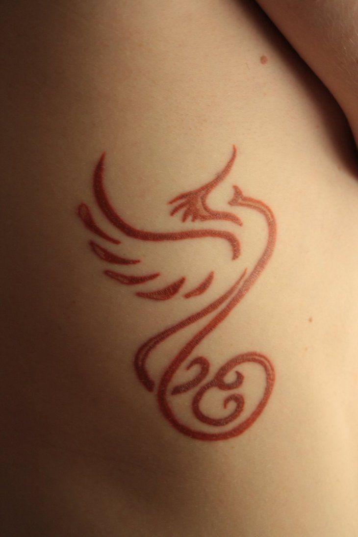 Colorful phoenix tattoo designs - Simple Red Phoenix Tattoo I Love Tattoo Ideas Phoenix Tattoo Design