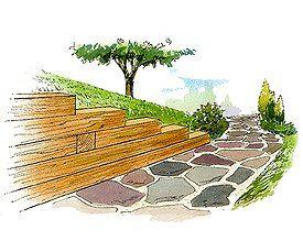 Timber Retaining Wall @Alex Jones Fleming this looks like pretty good instructions