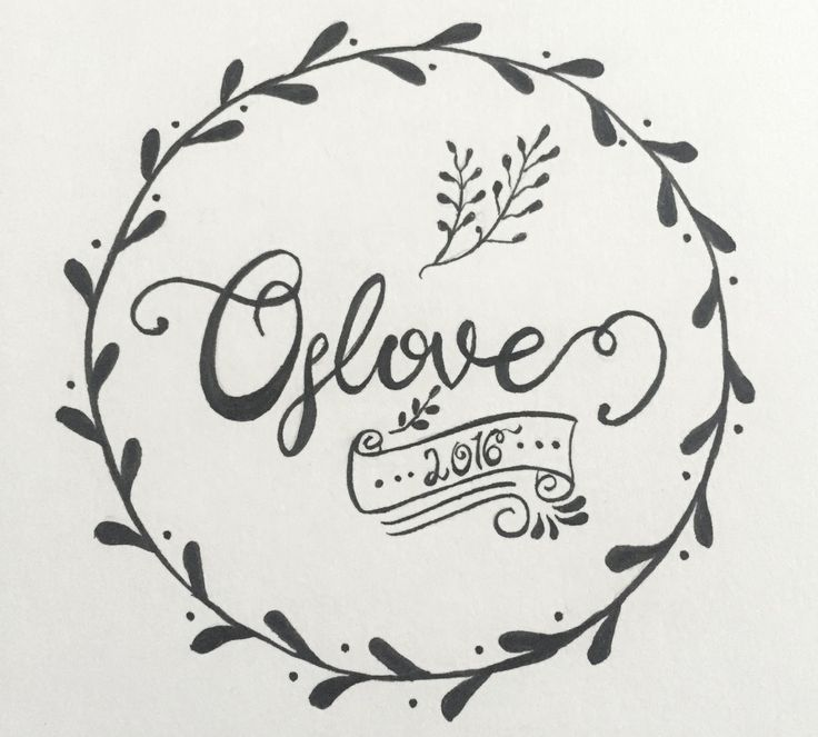 Oslove | hand lettering, typography, script, brush, decorations