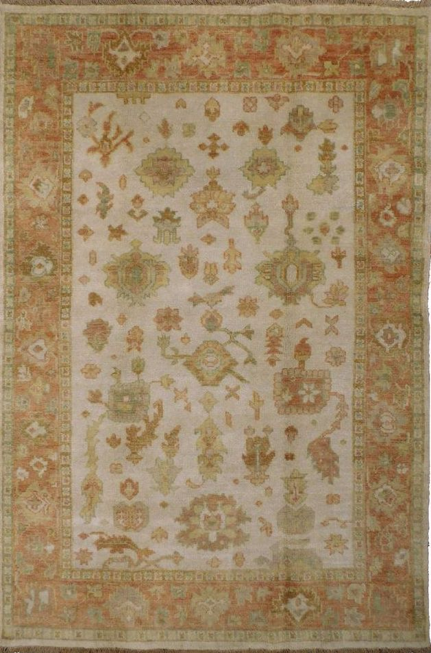 """Hand-Knotted Oushak Rug - 3'11""""x 5'11"""" on Chairish.com"""