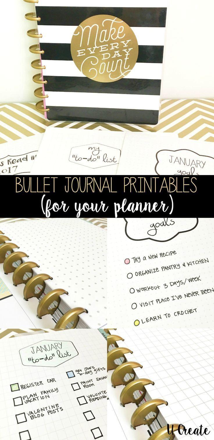 Bullet Journal Printables by U Create