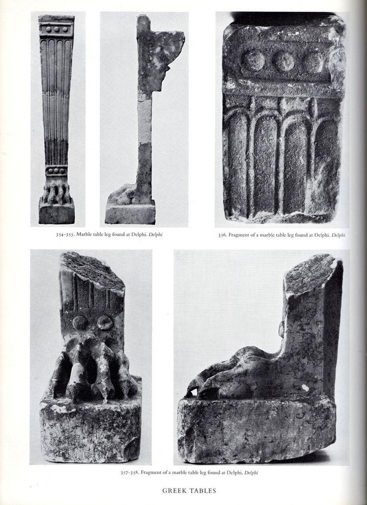 Fragments of Greek Trapezophoros found at Delphi.