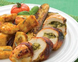 BBQ Pesto Chicken with Roasters & Vegetables
