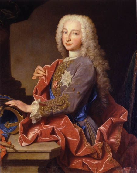 Portrait of Charles de Bourbon (1716-1788), future Carlos III King of Spain, by Jean Ranc, 1725.