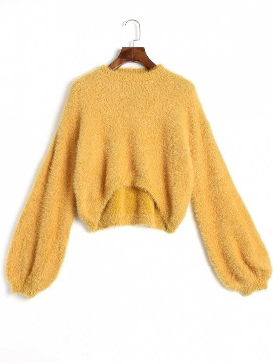 High Low Mohair Sweater - GINGER ONE SIZE