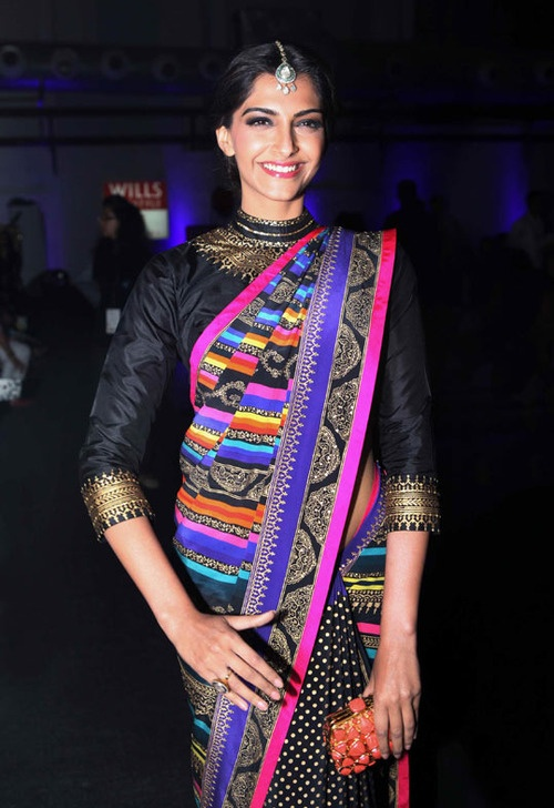 Sonam kapoor saree for a south Asian wedding