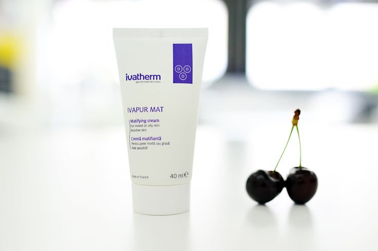 #IVAPUR MAT #IVATHERM It has lasting matifying effect on mixed or oily #skin. The non-greasy formula regulates #sebum and has anti-shine effect.