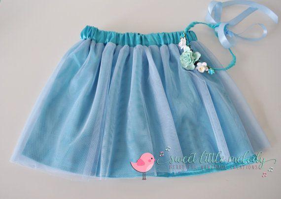 Blue Tutu Ballerina Skirt Flowergirl skirt by SweetLittleMelody