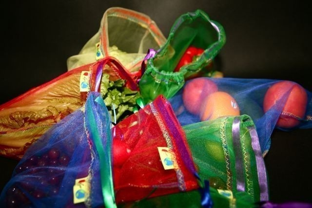Bring your reusable produce bag. It's cute and environmentally friendly!