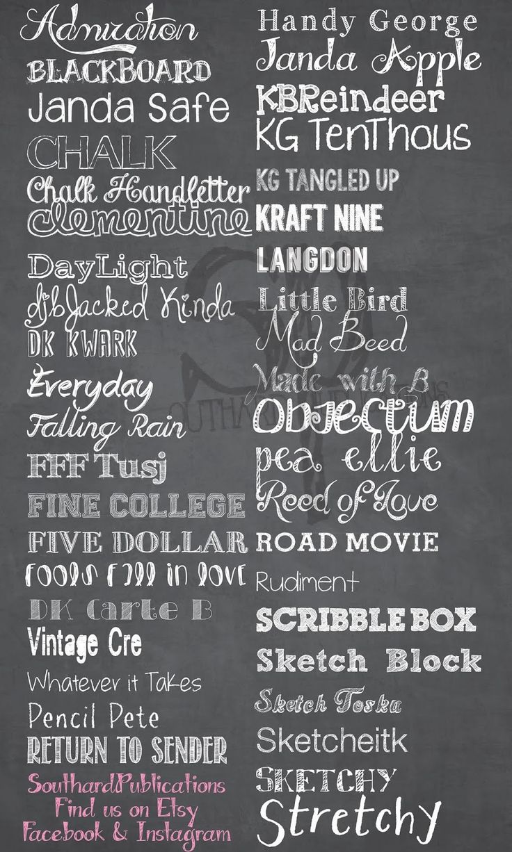 17 best ideas about chalkboard fonts free on pinterest Chalkboard typography