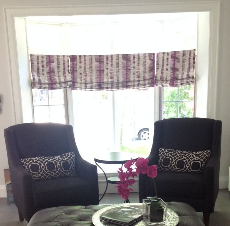 Viveca fabric from designerfabrics.ca in Toronto, Canada. Roman shades in textured woven fabric add depth and focal point in gorgeous and modern home remodel. For custom roman shades contact julannavine@gmail.com