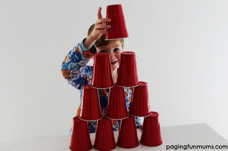 minute to win it cup stack game-one minute to stack as high as you can