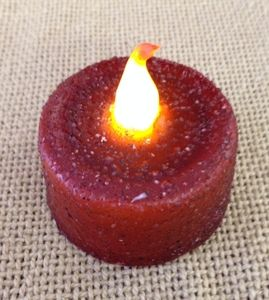 battery burgandy operated tealight candle