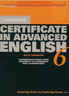 Cambridge certificate in advanced english 6