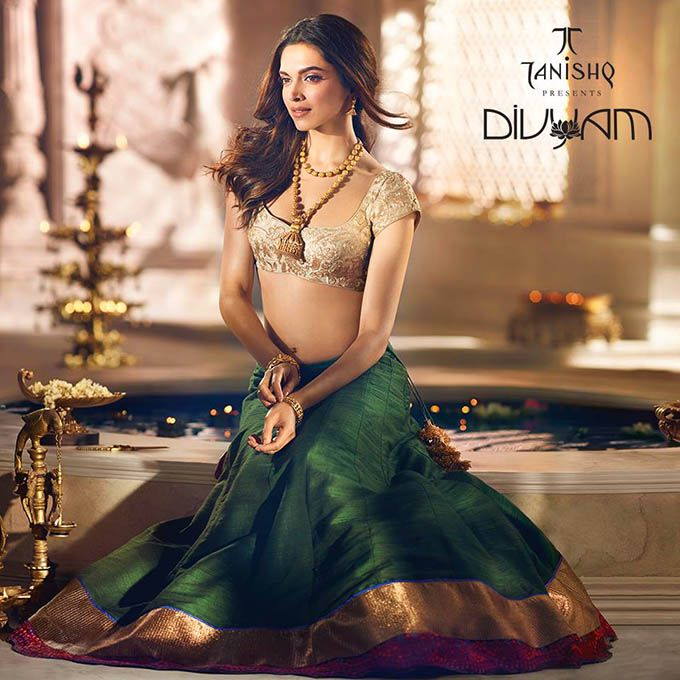 Deepika Padukone for Tannishq Jewelry Divyam Collection. #Bollywood #Fashion #Style #Beauty #Hot #Sexy