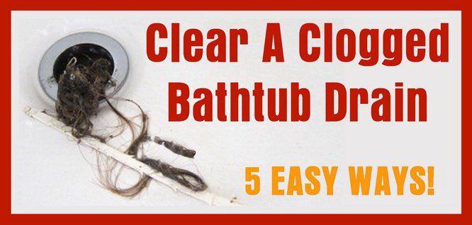 5 Ways To Clear A Clogged Bathtub Drain                              …