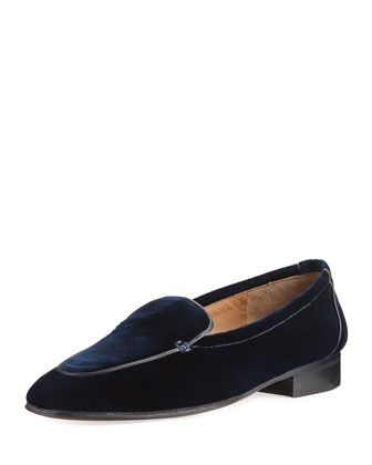 Adam+Velvet+Loafer+by+THE+ROW+at+Bergdorf+Goodman.