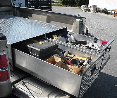 "New Heavy Duty Aluminum Truck Bed 2 Drawer Storage Tool Box 48"" x 48"""