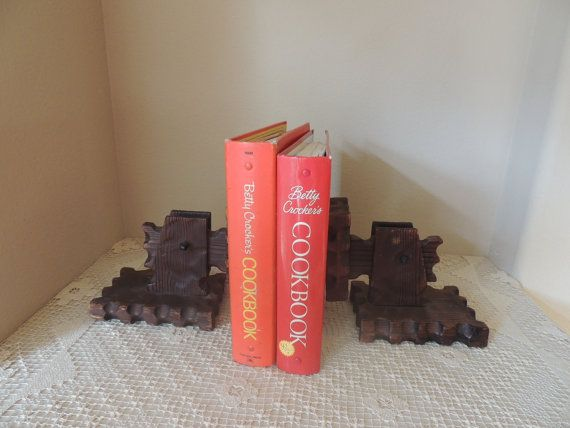 Unusual Gothic Mediterranean Dark Wood Bookends. Dungeons and
