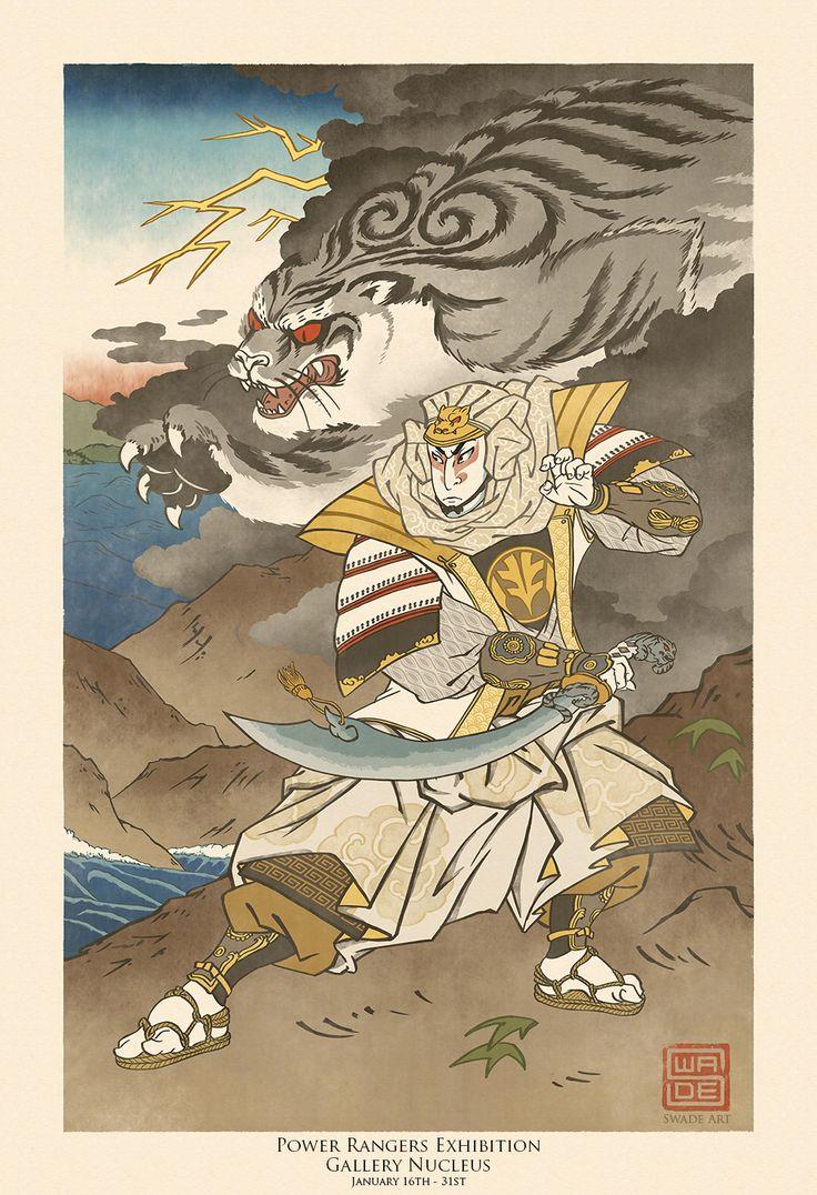 Ukiyo-e White Ranger - Power Rangers Tribute Show by swadeart on DeviantArt