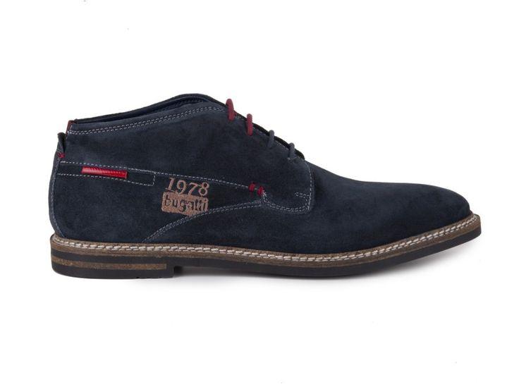 Bugatti - Pánské zateplené kotníkové boty Fedelo EVO U8005-PR3 / modrá | obujsi.cz - dámská, pánská, dětská obuv a boty online, kabelky, módní doplňky