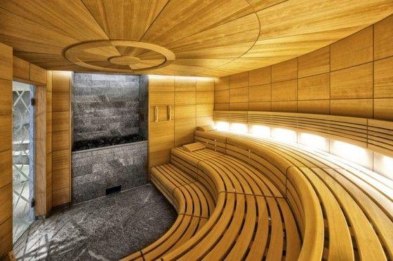 Wunderschönes modernes Sauna Design