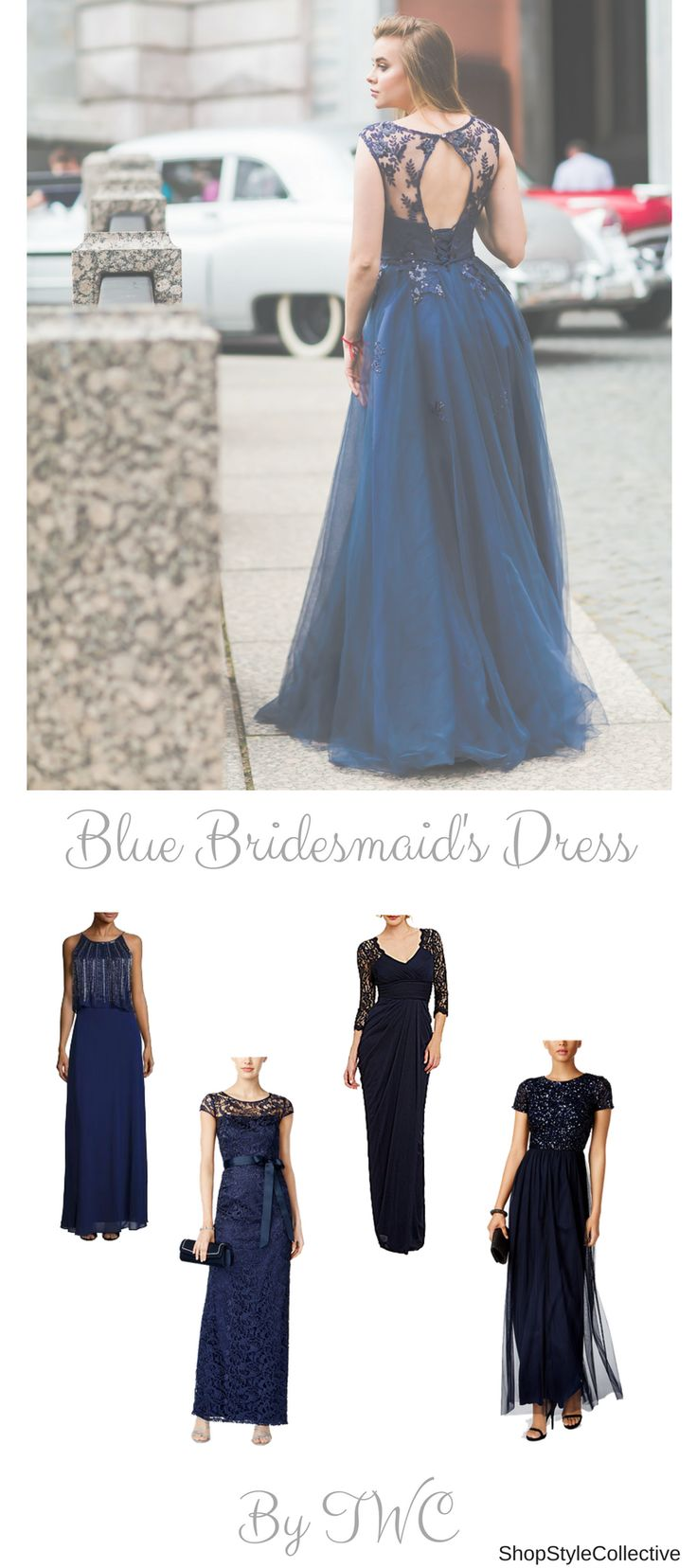 TheBeautiful blue bridesmaid dresses! Navy blue, royal blue, powder blue and all types of blue have been in season since 2014. And it is a trend that is here to stay... Bridesmaids need to feel important too, and you should dress them well!