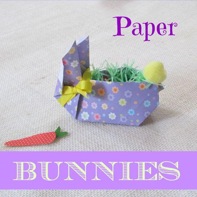 Cuter than Cute Easter Paper Bunnies