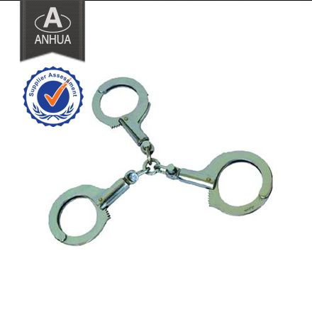 ·widely used by china plice department & army institution ·material: carbon steel & chrome plated ·min.diameter: 5.3cm ·max.diameter:8.0cm ·two handcuff keys included ·weight: 620g  ANHUA police equipment manufacturing can produce not only HAND CUFFS, but alsopolice handcuffs,legcuff, etc.  If you have any questions, pls contact us at any time. We will give you reply within 24 hours.  Tel:0086-25-85571958 E-mail: machong@anhuapolice.com  anhuapolice@aliyun.com public@anhuapolice.com